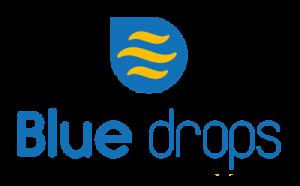 bluedrops logo webdesign, brochure