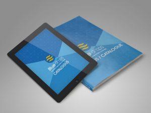 bluedrops logo brochure
