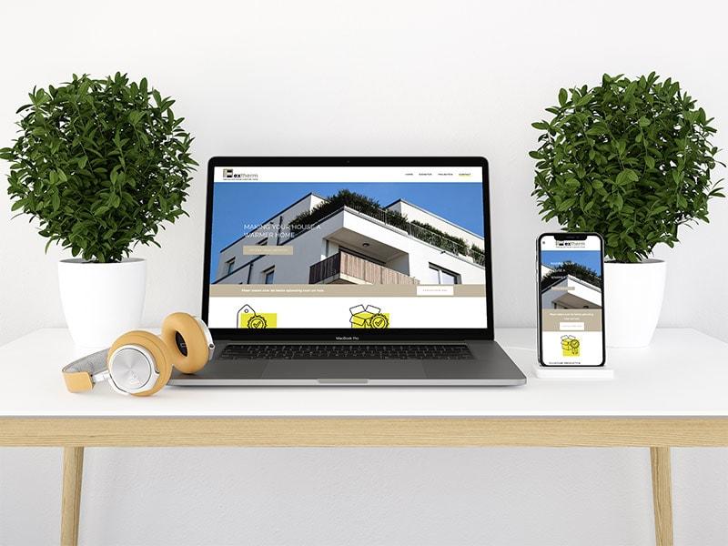 webdesign bouwbedrijf Extherm