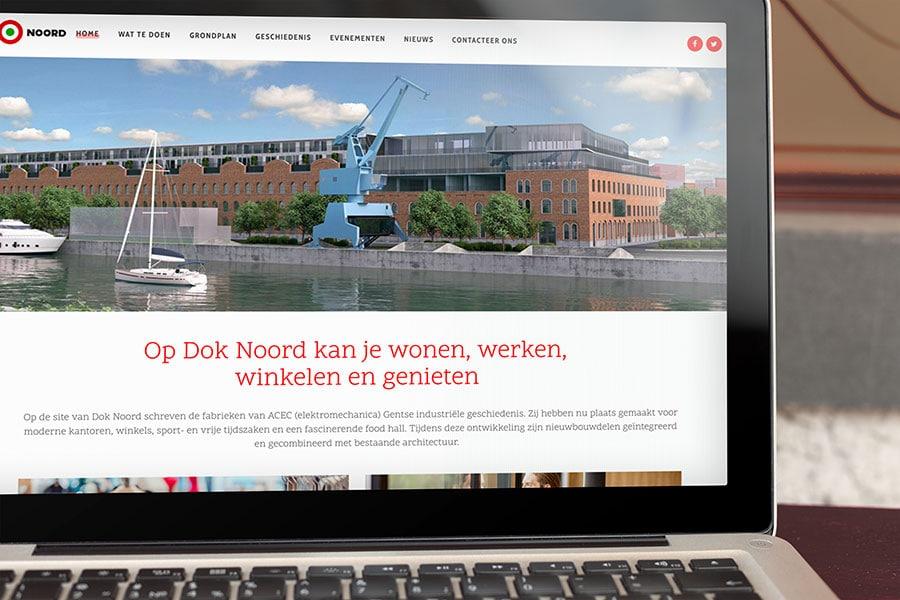 Gent Dok Noord webdesign