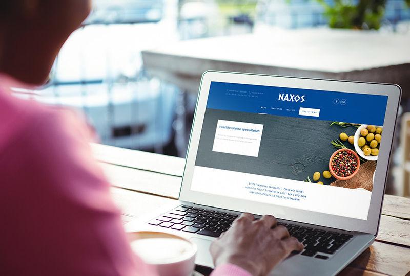 website laten maken voor restaurant Naxos Aalst