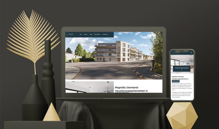 brochure-ontwerp en website Magnolia